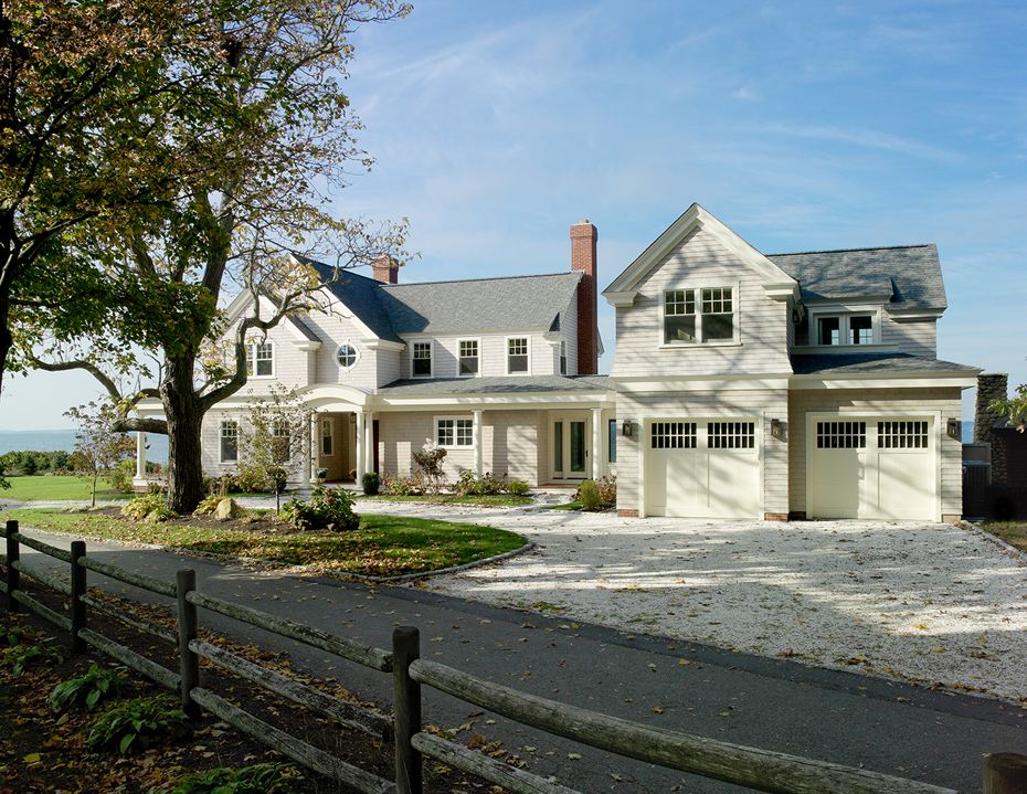 New england waterfront home couture design associates for Newengland homes